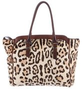 Ermanno Scervino Leather-Trimmed Ponyhair Tote