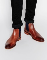 Ted Baker Camroon Leather Chelsea Boots - Brown