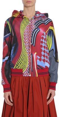 Versace Printed Motif Reversible Bomber Jacket