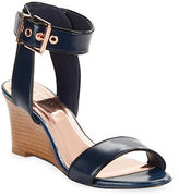 Ted Baker Lernox Leather Wedge Sandals