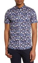 Ted Baker Noslans Floral Short Sleeve Button-Up Shirt
