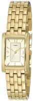 Timex Women's T2N050 Gold-Tone Fashion Rectangle Dress Watch