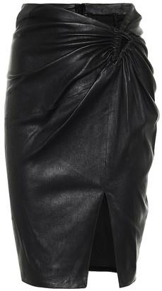 Unravel Leather mini skirt