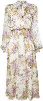Giambattista Valli floral print midi dress - women - Silk Organza - 42