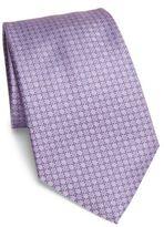 Ermenegildo Zegna Tonal Micro Neat Pattern Silk Tie