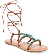 Madden-Girl Kalipsoo Lace-Up Embellished Sandals