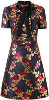 Gucci metallic floral dress - women - Silk/Cotton/Acetate/Metallic Fibre - 42