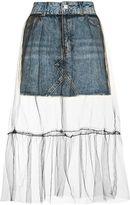 Petite tulle mesh skirt
