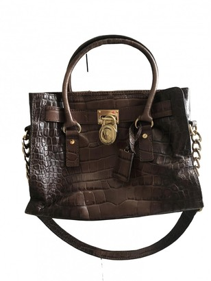 Michael Kors Hamilton Brown Leather Handbags