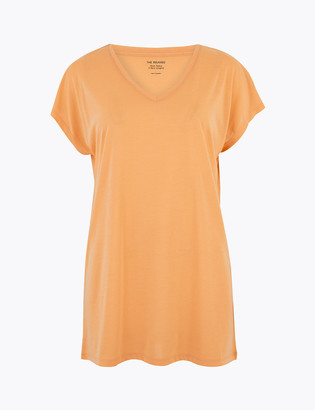 Marks and Spencer V-Neck Relaxed Longline T-Shirt