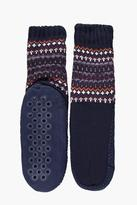 Boohoo Fairisle Slipper Socks