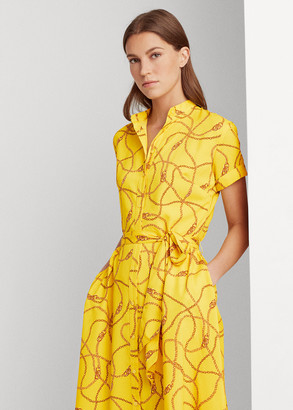 Ralph Lauren Print Crepe Dress