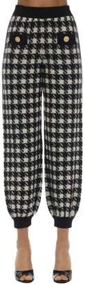 Gucci Cashmere & Silk Houndstooth Sweatpants
