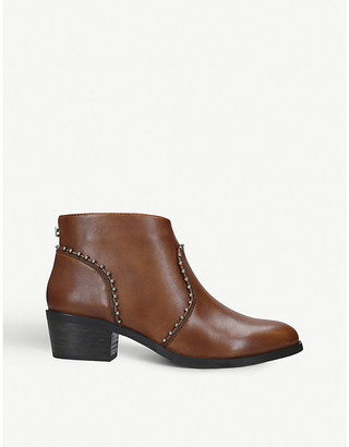 Steve Madden Walball studded block heel leather ankle boots