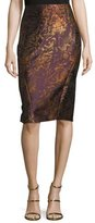 Zac Posen Contour Pencil Skirt, Amethyst Multi