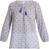 Velvet by Graham & Spencer Hollie geometric-print cotton top