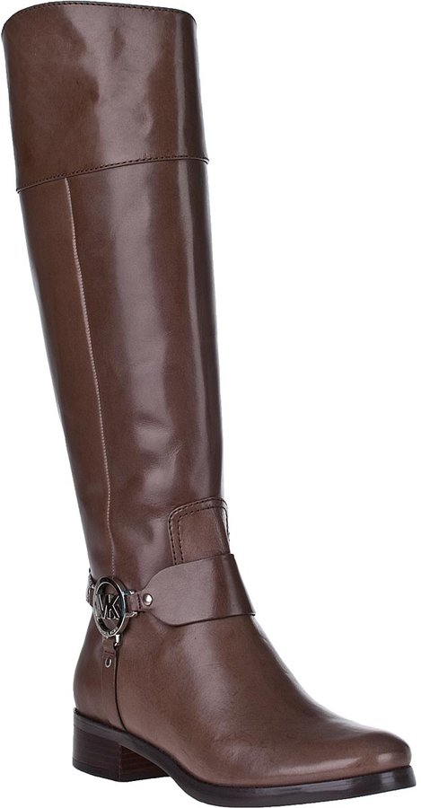 MICHAEL Michael Kors Fulton Harness Riding Boot Birch Leather