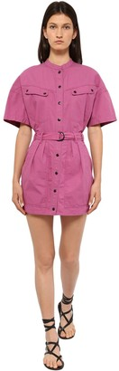 Etoile Isabel Marant Zolina Light Canvas Mini Dress