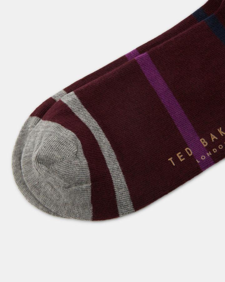 Ted Baker Striped organic cottonblend socks