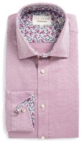 Ted Baker Men's Lohan Trim Fit Diamond Dress Shirt