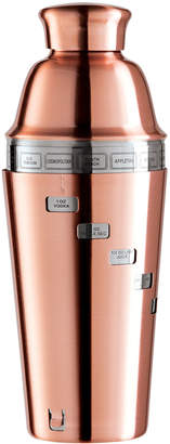 Oggi Copper-Tone Dial-A-Drink Stainless Steel Recipe Cocktail Shaker