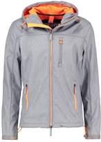 Superdry HOODED WINDTREKKER Light jacket light grey marl/fluro lime