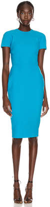 Victoria Beckham T Shirt Fitted Dress in Turquoise | FWRD