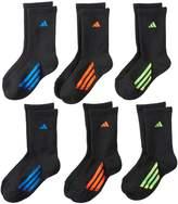 adidas Boys 6-Pack ClimaLite Crew Socks