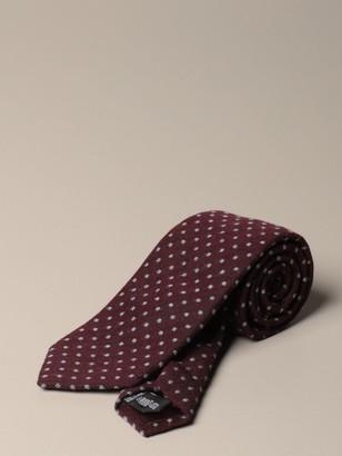 Emporio Armani Tie In Polka Dot Wool