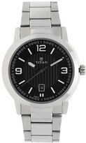 Titan Men's 'Neo' Quartz Metal and Brass Casual Watch, Color:Silver-Toned (Model: 1730SM03)