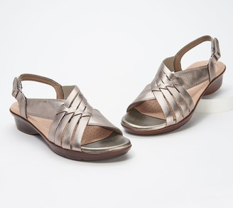 Clarks Collection Woven-Front Leather Sandals - Loomis Cassey