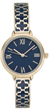 Charter Club Women's Gold-Tone & Enamel Bracelet Watch 34mm, Created for Macy's