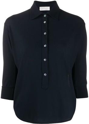Zanone Cropped Sleeves Shirt