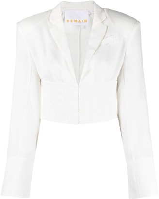 REMAIN Cropped Tailored Blouse