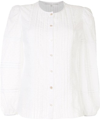 Veronica Beard Swiss Dot Button-Down Shirt