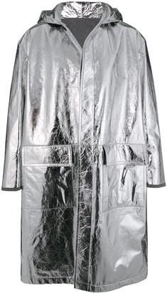 Jil Sander hooded single-breasted coat