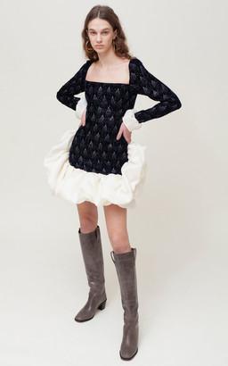 Sandra Mansour Ciel Sans Fin Velvet Mini Dress