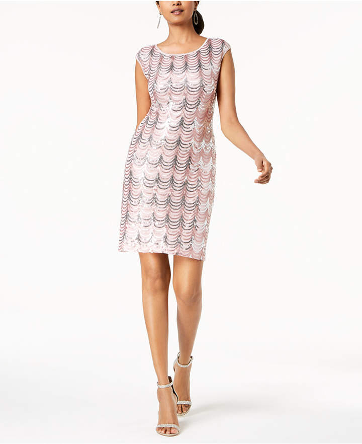 Connected Sequined Sheath Dress