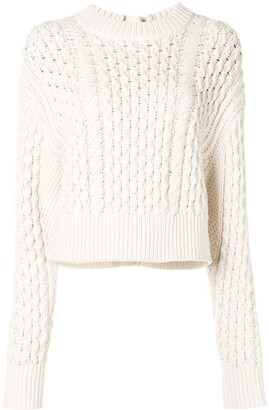 Proenza Schouler White Label Cable Knit Buttoned Jumper