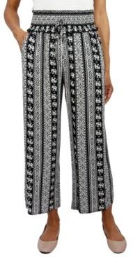 BeBop Juniors' Smocked-Waist Cropped Pants