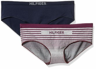 Tommy Hilfiger Women's Seamless Hipster Underwear Panty 2 Pack