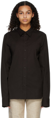 Bottega Veneta Brown Poplin Shirt