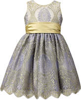 Jayne Copeland Gold Sash Ball Gown, Toddler & Little Girls (2T-6X)