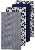 David Jones Navy Mix Print Napkins