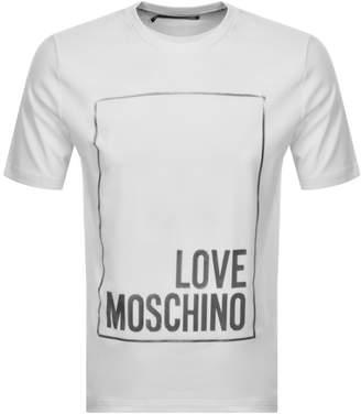 Moschino Love Box Logo T Shirt White