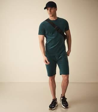 Reiss Justin - Velour Shorts in Dark Teal