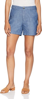 "Amazon Essentials Women's 5"" Inseam Solid Chino Short 5"" Inseam Chino Short Casual Shorts"