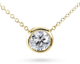 Kobelli Jewelry 1 CT DEW Forever Classic Moissanite 14K Gold Solitaire Necklace with Chain
