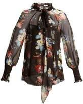 Erdem Isabelle silk-voile floral-print blouse