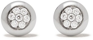 Georg Jensen 18kt white gold Aurora diamond stud earrings